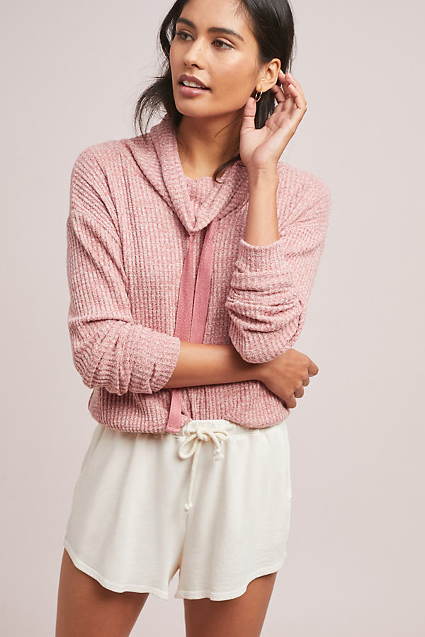 Whistler Waffle Top - Pink, Size L