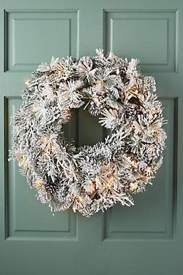 Slide View: 1: Snowy Pine Wreath