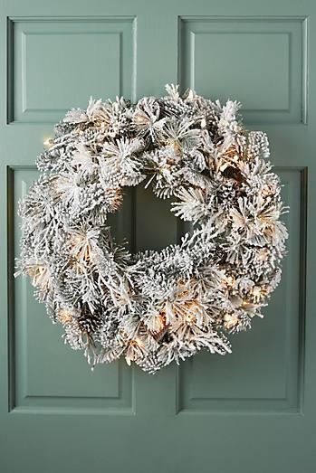 Snowy Pine Wreath
