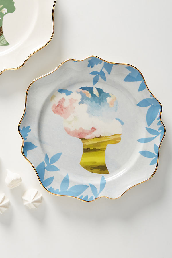 Carrie Shryock Silhouette Dessert Plate - Assorted, Size Dst Plate