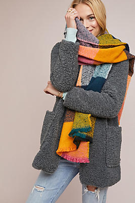 Quincy Plaid Scarf by Anthropologie