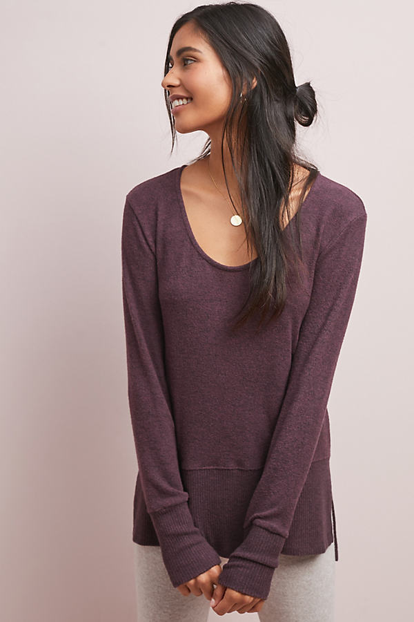 Pasiphae Brushed-Fleece Top - Purple, Size S