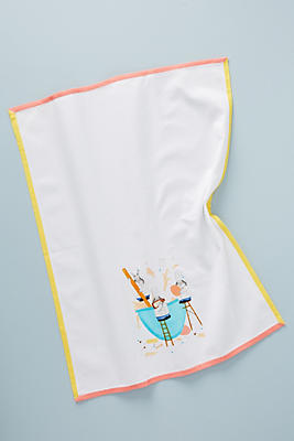 Slide View: 1: Dear Hancock Bunny Bakers Dish Towel