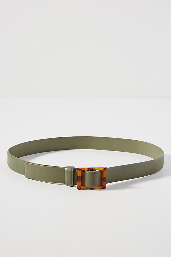 Martina Buckle Belt - Green, Size S