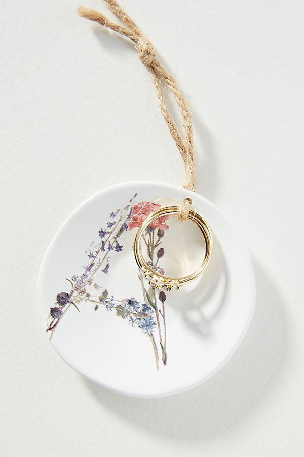 Slide View: 1: Monogram Ring + Dish Gift Set
