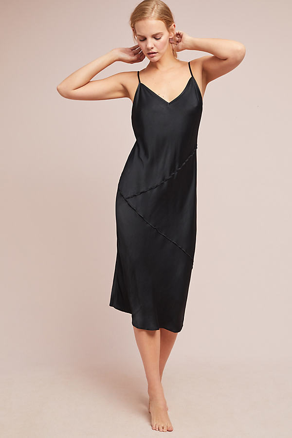 Rosalina Slip Dress - Black, Size S
