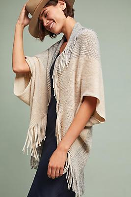 Slide View: 1: Fringed Cocoon Kimono