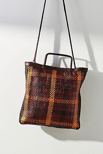 En Shalla Checkered Square Tote Bag fd381a2e5e310