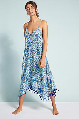 Slide View: 1: Allihop Tasseled Cover-Up Dress