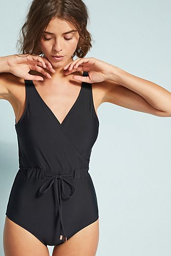 b7e3673999ac5 Anthropologie Belted One-Piece Swimsuit