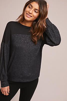 Slide View: 1: Cozy Contrast Pullover
