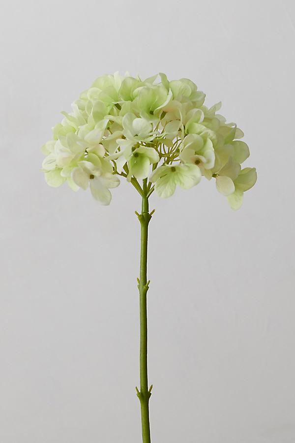 Faux Hydrangea Stem - Green