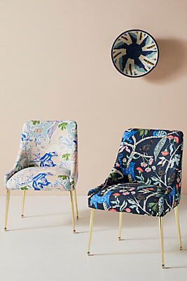 Slide View: 1: Midnight Jasmine Elowen Dining Chair