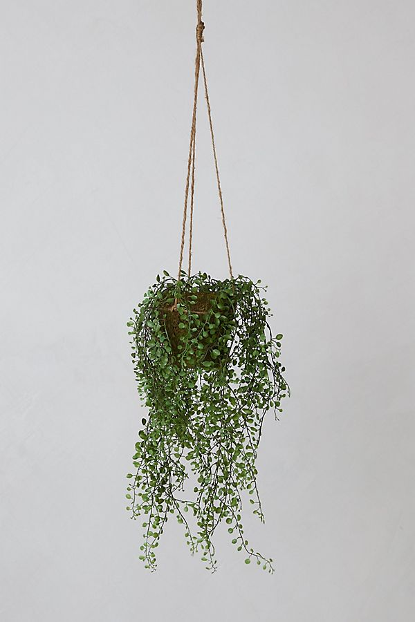Slide View: 1: Faux Potted Hanging Plant