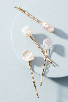 Drop In The Ocean Bobby Pin Set by Anthropologie