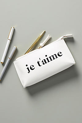 Slide View: 1: Je T'Aime Pencil Pouch