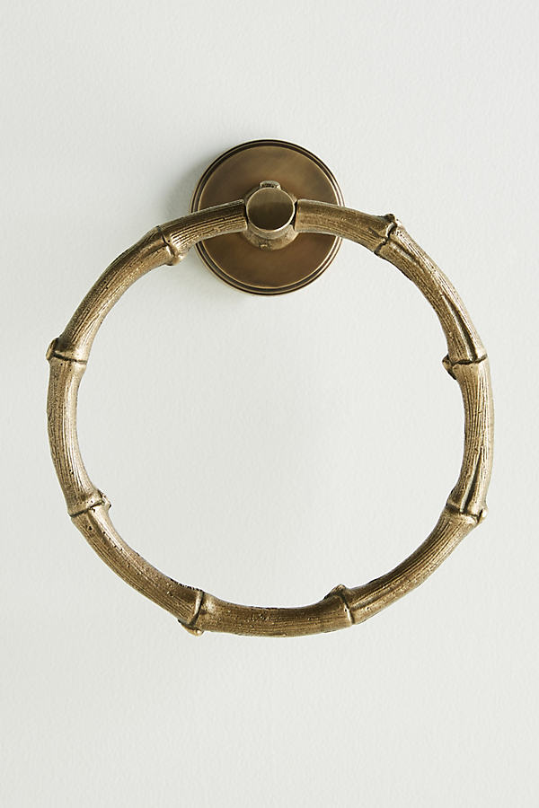 Bamboo Towel Ring - Brown, Size S