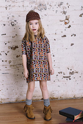 Slide View: 1: Marin + Morgan Jacquard Samira Dress