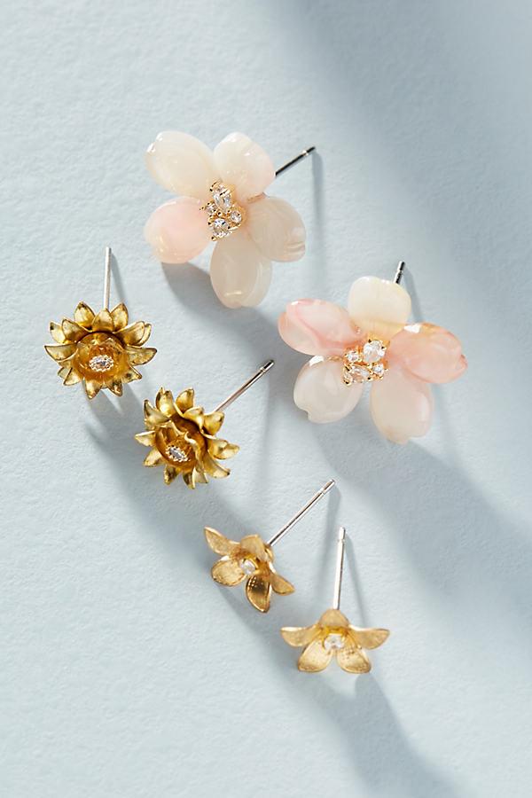 Blossom Earring Set - Pink