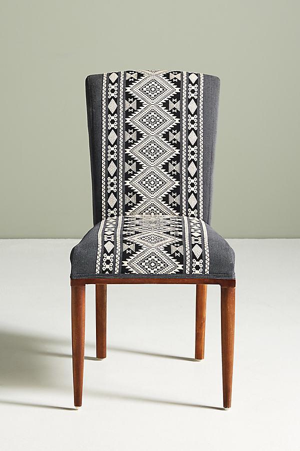 Diamond-Striped Elza Dining Chair