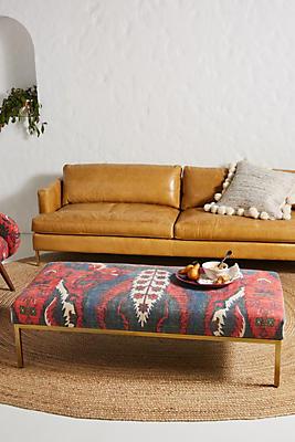 Slide View: 1: Rug-Printed Ottoman