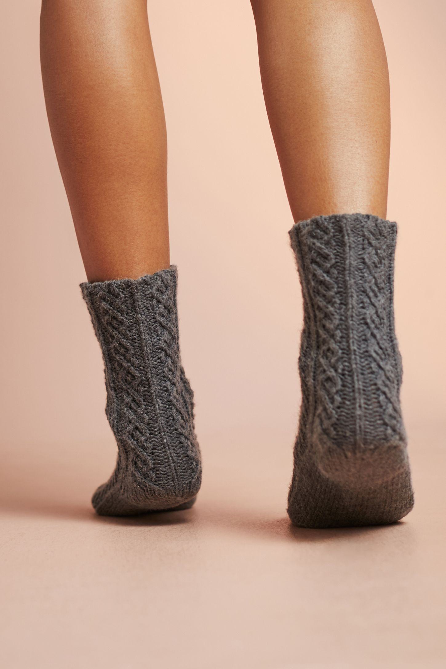 Cable Knit Slipper Socks Anthropologie