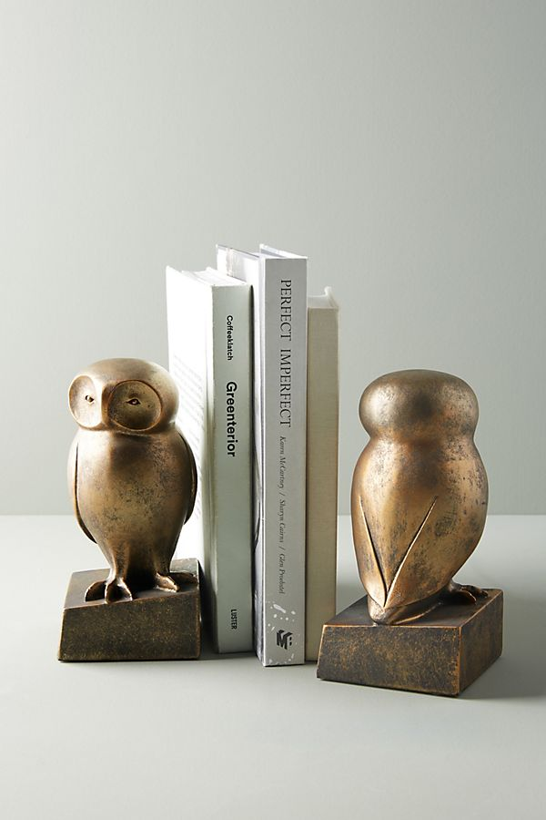 Slide View: 1: Wise Owl Book Ends