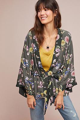 Slide View: 1: Roberta Floral Jacket Kimono