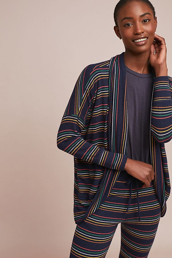 Slide View: 1: Sundry Striped Knit Cardigan