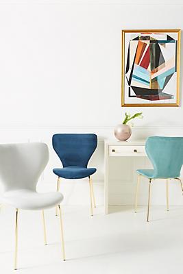 Slide View: 1: Velvet Gibson Chair