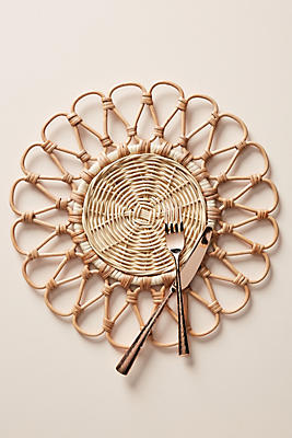 Slide View: 1: Penelope Rattan Placemat