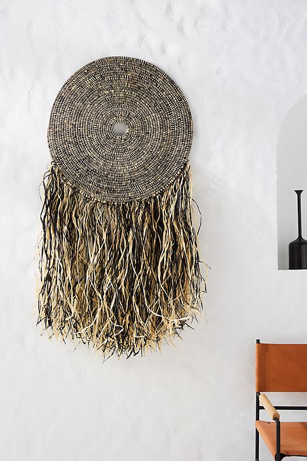 Slide View: 1: Fringed Wall Hanging