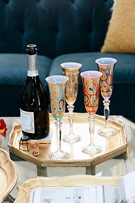 Slide View: 1: Vietri Regalia Champagne Glass