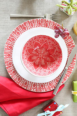 Slide View: 1: Viva by Vietri Lace 3-Piece Place Setting
