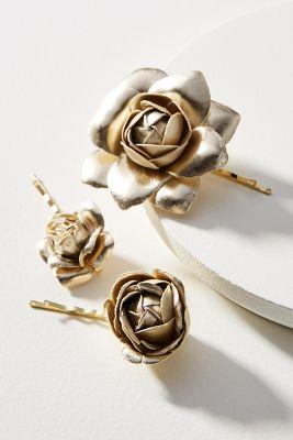 Rose Garden Bobby Pin Set by Anthropologie