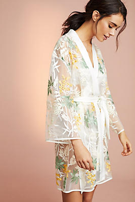 Slide View: 1: Nottingham Embroidered Robe