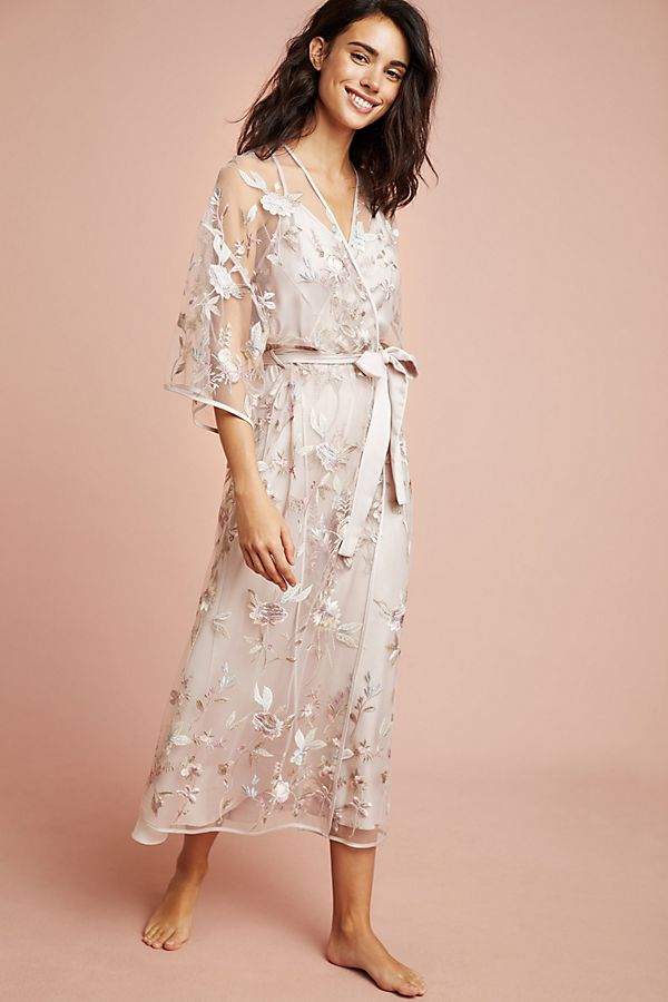 Slide View: 1: Juliette Embroidered Robe