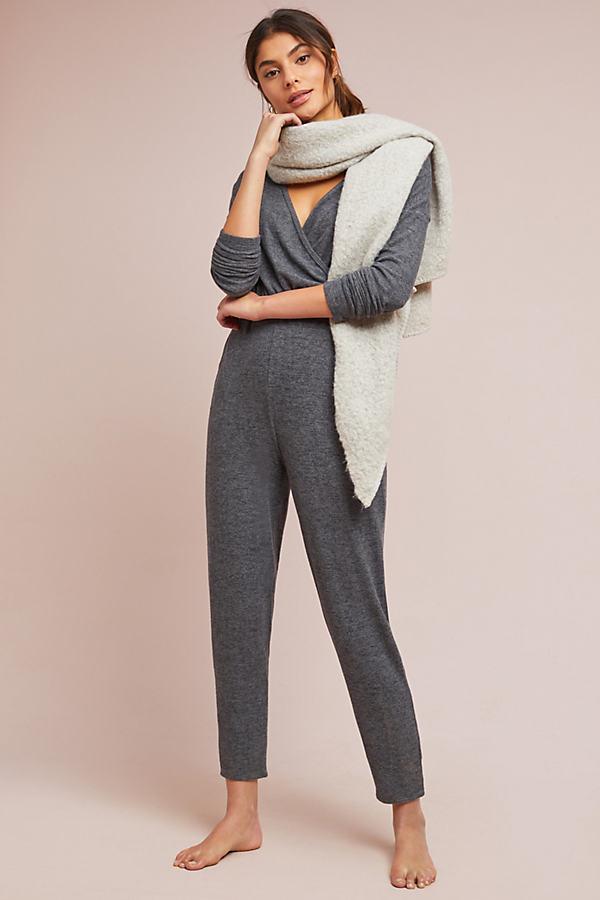 Lahti Surplice Jumpsuit - Grey, Size Xl