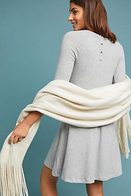 Slide View: 1: Erica Brushed Fleece Dress