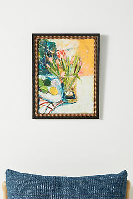 Slide View: 1: Flowers, Lemon and Limes Wall Art