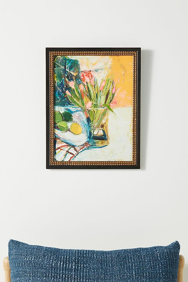 Slide View: 1: Flowers, Lemon and Limes Wall Art