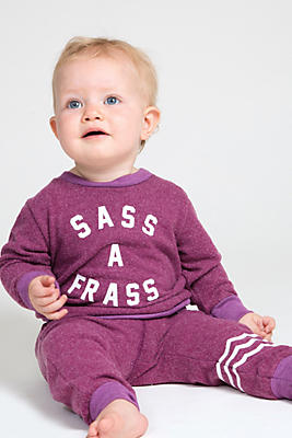 Slide View: 1: Sol Angeles Baby Sass a Frass Pullover