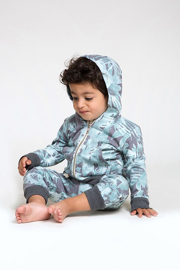 Slide View: 1: Sol Angeles Baby Tropical Camo Zip Hoodie