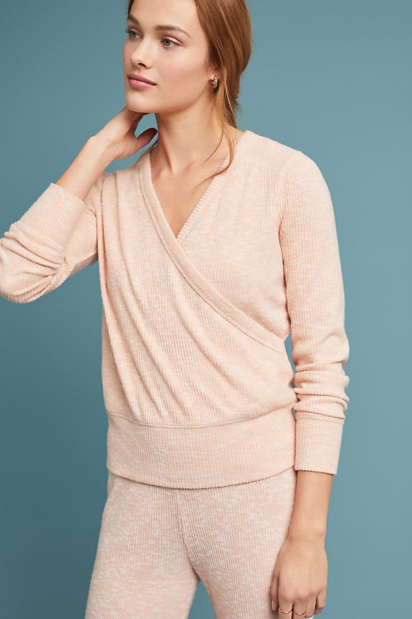 CloudFleece Wrap Top - Pink, Size S