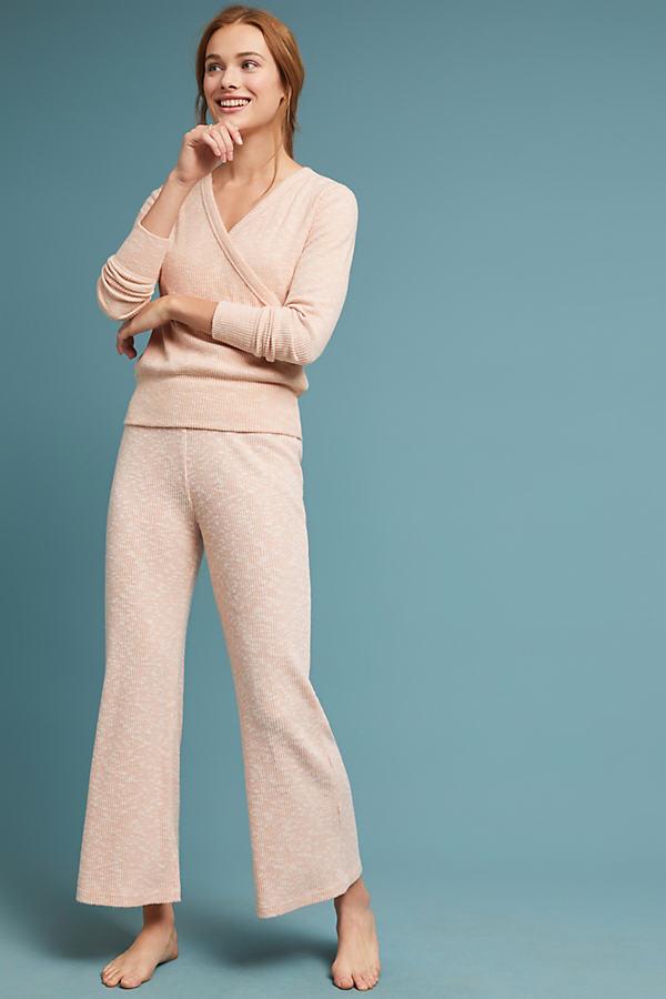 CloudFleece Wide-Leg Trousers - Pink, Size S