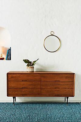 Slide View: 1: Oaken Six-Drawer Dresser