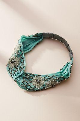 Pam Pearled Twist Headband by Joshipura