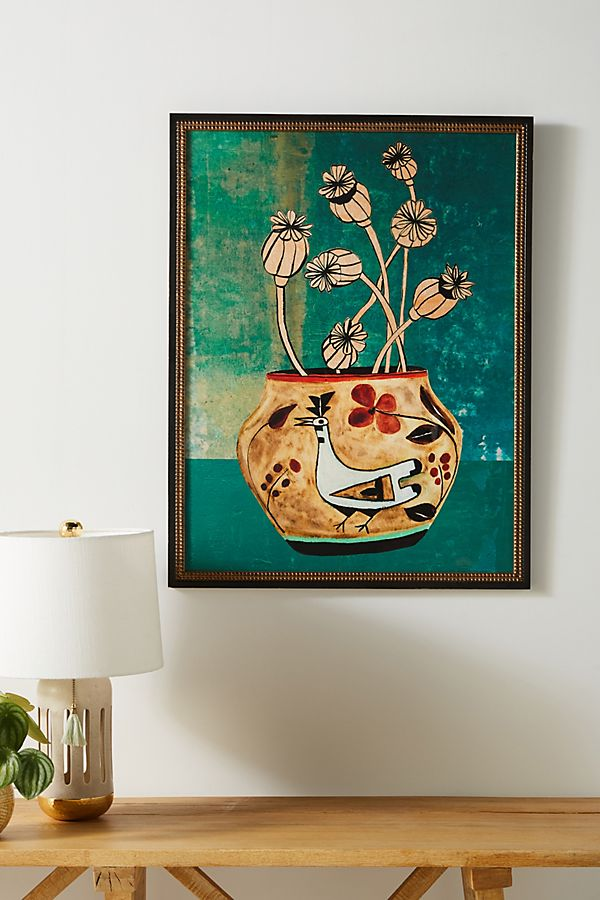 Slide View: 1: Poppies Vase Wall Art