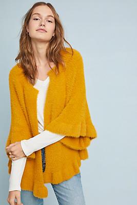 Slide View: 1: Marigold Ruffled Kimono