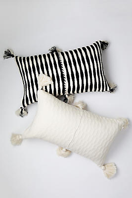 Slide View: 1: Archive New York Black and White Antigua Pillow